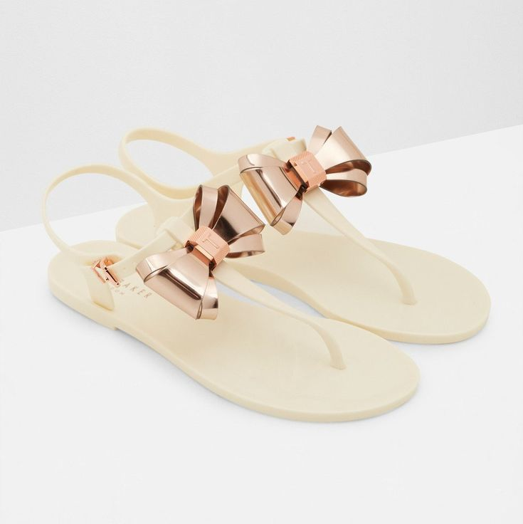 Ted Baker Aiinda Jelly Bow Sandal (Cream)