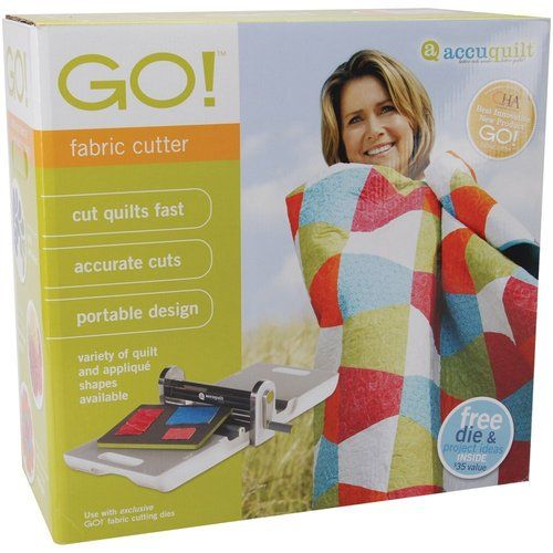 Accuquilt Go Fabric Cutter Cut Quilts Fast Portable