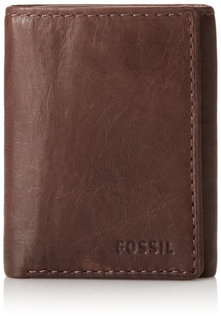 Fossil Ingram Extra Capacity Trifold Men's Wallet Brown