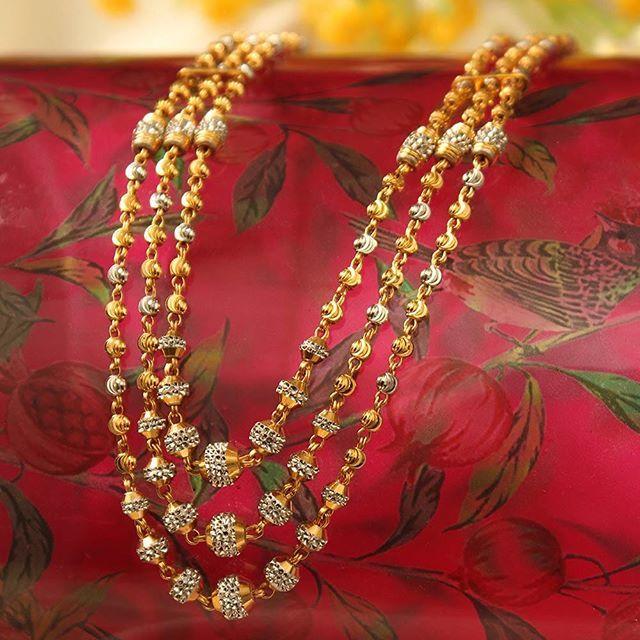 The magic of layers. #Gold #Layers #Necklace #Rhodium #Jewellery #Manubhai #Mumbai #Borivali