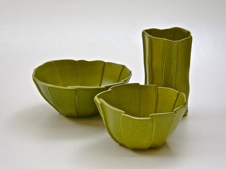 L'arte nel pozzo - Carciofo set of three:  Three uniquely designed #vases. Created and handmade in Italy. #homeaccessories #interiordesign