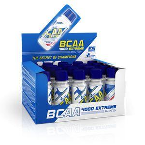 Olimp BCAA 4000 Shot, servis başına 2:1:1 oranında 4000 mg Lösin, İzolösin ve Valin içeren BCAA, amino asit takviyesidir. Olimp BCAA 4000 içerdiği Nitroloader System™ ile emilim hızını arttırır, bu sayade kaslar için daha hızlı amino asit desteği sağlanabilir.