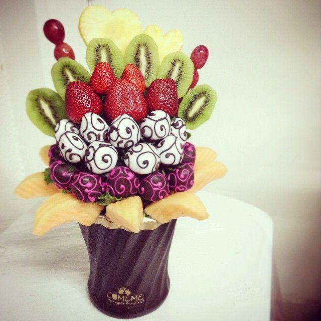 Cómeme.... Arreglos Frutales! (Chocolate Regalo Flower Bouquets)