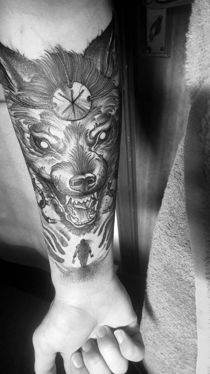 Finally Got My Fenrir Half Sleeve Done Couldnt Be Happier