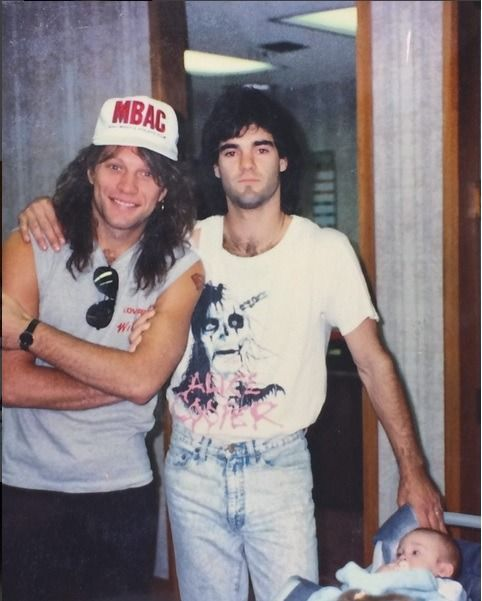 Jon Bon Jovi and ❔❔. @lydia-jovigirl | Tumblr #fanpic #fanphoto #meetandgreet #backstage #jonbonjovi #jbj #captainkidd #bonjovi #80smusic #80s #80srock #80smetal #rockstar #hairmetal #glammetal #hairbands #glamrock #hardrock #rockmusic #rockicon #rocklegend