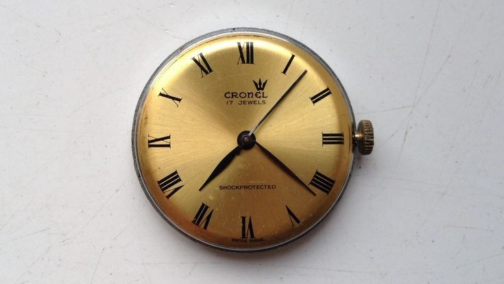ON AUCTION ON SUNDAY 25 FEBRUARY FROM 8pm.....MENS VINTAGE CRONEL SWISS MADE 17 JEWELS MANUAL WIND WATCH MOVEMENT SPARES OR REPAIRS