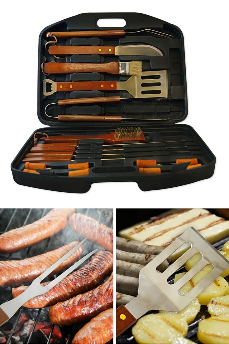 Our Flamen 18-Piece Deluxe Stainless Steel BBQ Set in Portable Storage Case is the perfect gift for grill masters   Aspectek