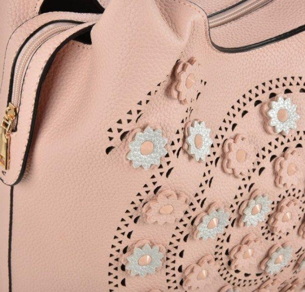 Olkalaukku Flower roosa 2in1 - Julian Korulipas #laukku #verkkokauppa #JulianKorulipas
