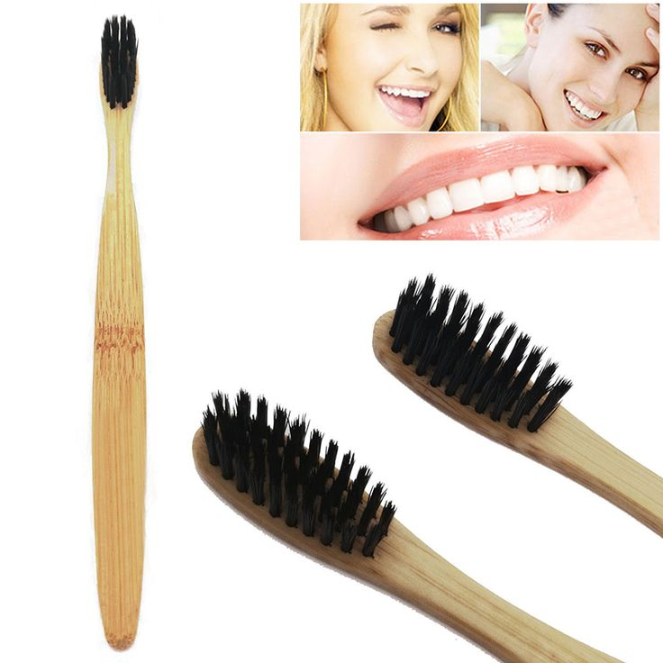 NEW Natural Bamboo Toothbrush Bamboo Charcoal Toothbrush Low Carbon Bamboo Nylon…