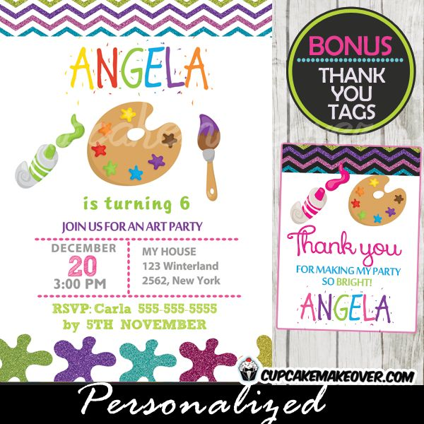 paint party invitation template Intoanysearchco