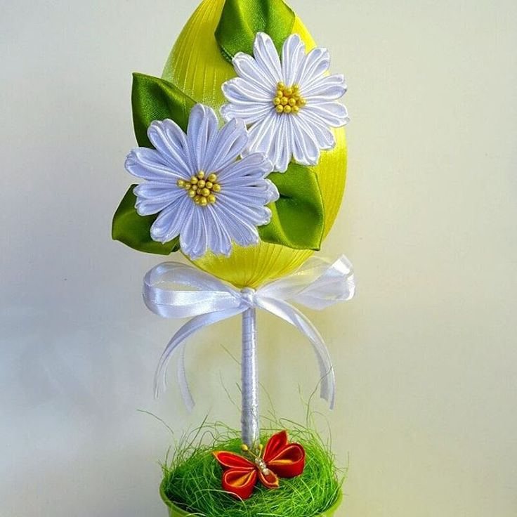 #kamerlik #kanzashi #flowers #flower #easter #egg #eggs www.facebook.com/wislakamerlik
