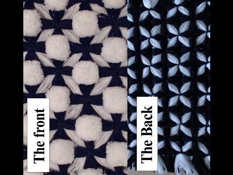 POM POM BLANKET  - Celtic cross Geometric blanket 1 - with pom poms - YouTube