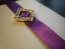 wedding invitation with bling!!