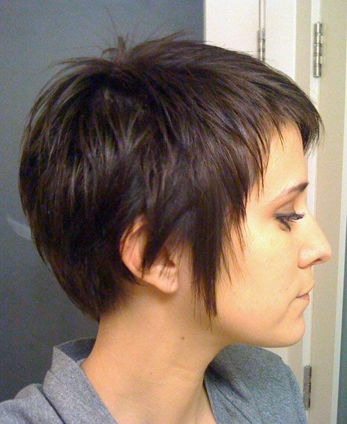 DEV Straight Dark Brown Choppy Layers, Pixie Cut Hairstyle | Steal ...