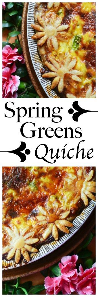 Spring Greens Quiche