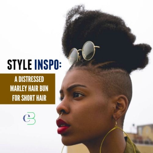 a new style to try.     http://blog.curlbox.com/2016/08/04/style-inspo-distressed-marley-hair-bun-for-short-hair/