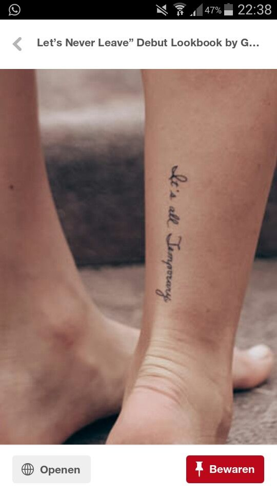 Cute Ankle Tattoos, Ankle Tattoo Small