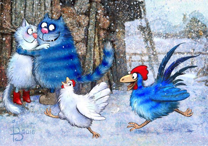 Просмотреть иллюстрацию Кот и Петух ухлёстывают за дамами из сообщества русскоязычных художников автора Рина З. в стилях: Классика, нарисованная техниками: Растровая (цифровая) графика.