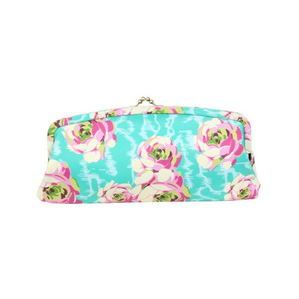Women's Amy Butler Cameo Clutch (460 DKK) ❤ liked on Polyvore featuring bags, handbags, clutches, purses, turquoise, handbag purse, multi colored purses, blue handbags, vintage clutches and handbags clutches