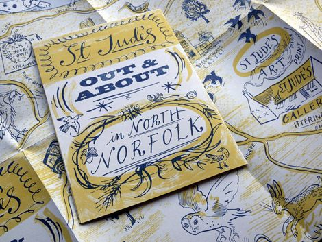 Mark Hearld illustrated map for St Jude's http://www.stjudesprints.co.uk
