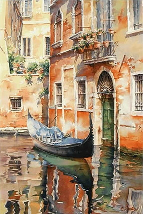 Watercolor painting by Christian Graniou