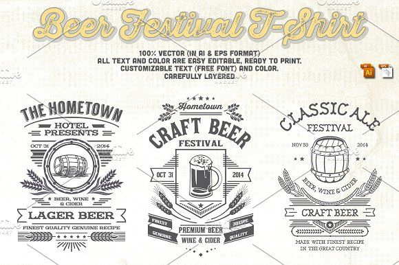 Beer Festival T-Shirt by Rooms Design Shop on @creativemarket