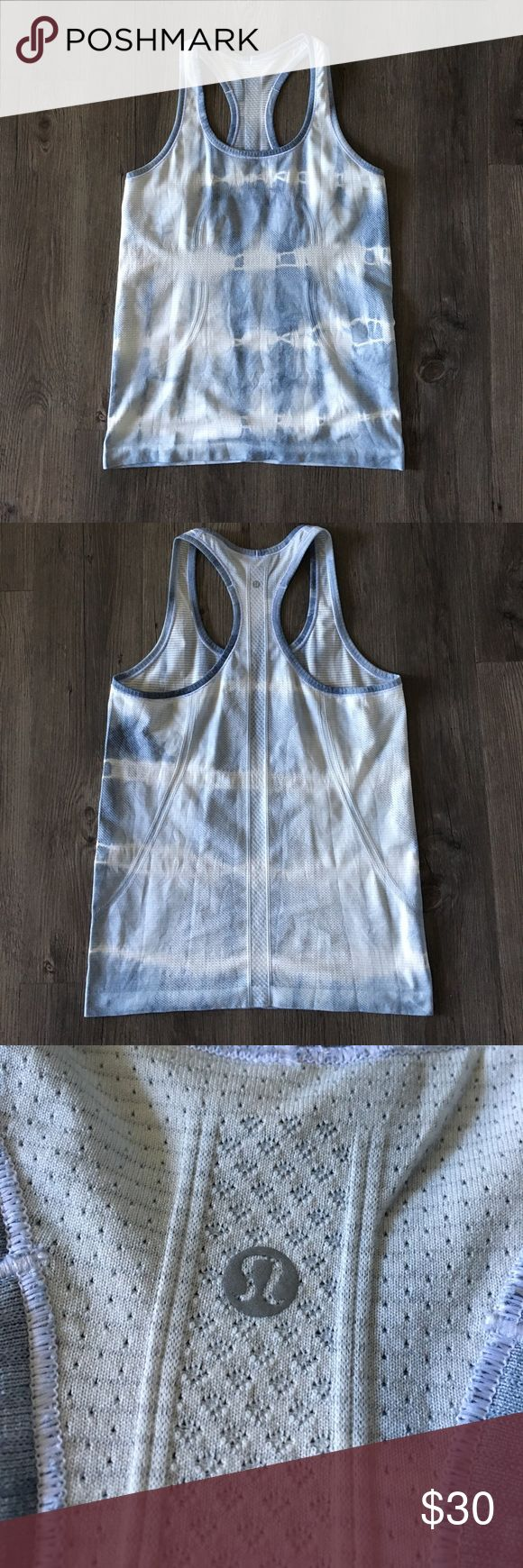 Lululemon Swiftly Top - Silver Fox Grey Tie Dye Tags have been removed. Worn maybe 5-7 times. I wash and hang dry every time. Fabric is still in perfect condition as far as I can see; there are no snags, stains, rips, or holes. lululemon athletica Tops Tank Tops