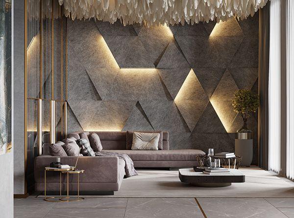 20 Living Room Wall Design Magzhouse, Wall Interior Design Living Room