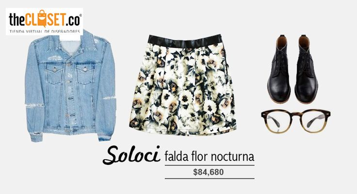 Un #outfit de locura para este clima veraniego, falda de la marca SoloCi en nuestra tienda online #RedDeDiseñadores
