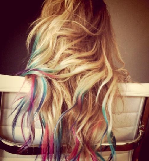 pastel dip dye hair tips | Hairs on My Head | Pinterest