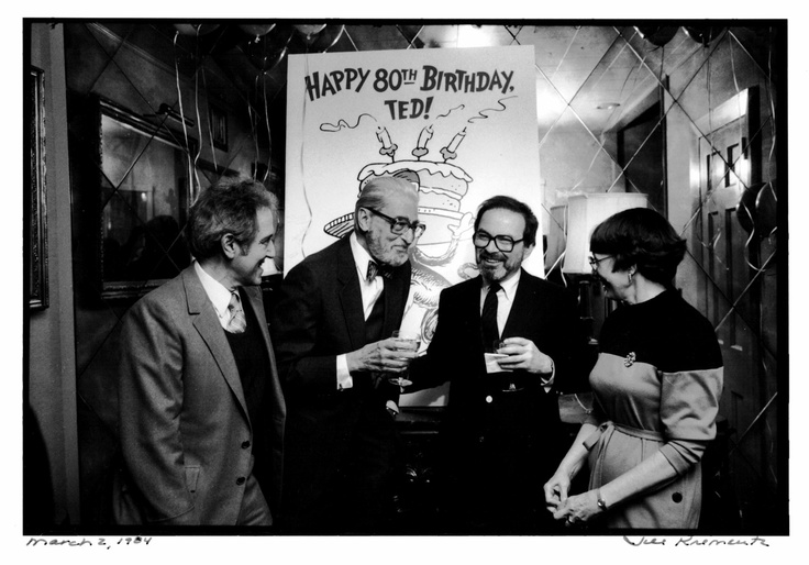 We are deeply saddened to learn of Maurice Sendak's death today.   Pictured are Stan and Jan Berenstain with Ted Geisel and Maurice Sendak at Dr. Seuss's 80th birthday party in 1984.