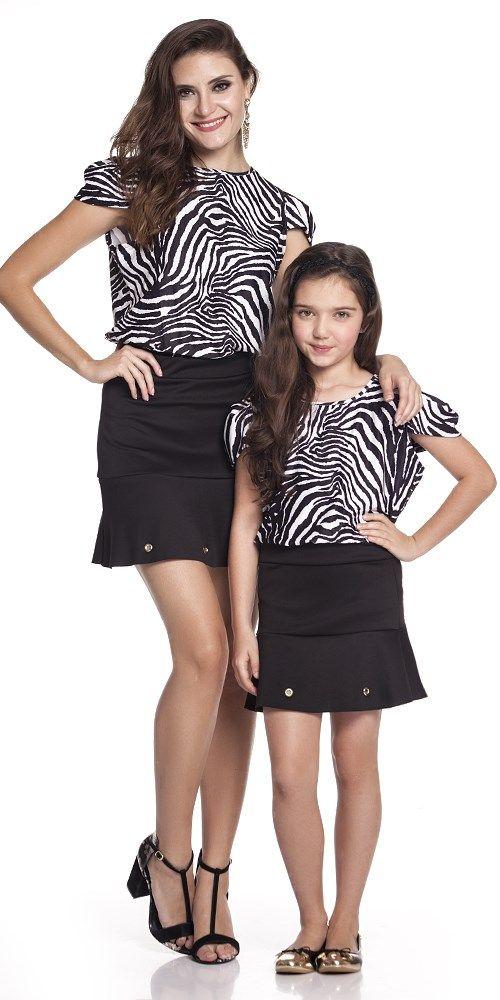T-Shirt Zebra Adulto   OLIVIAS TAL MÃE TAL FILHA   Olivias