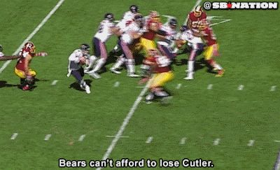 Bears QB Jay Cutler Out For the Game With a Groin Injury | FatManWriting