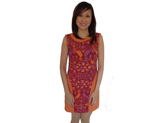 Brand New.Handmade Woven DressOrange Brown.Loom by SignatureofNana