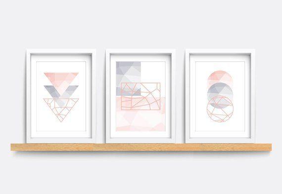 Peachy Set Of 3 Prints Abstract Wall Art Prints Minimalist Prints Download Free Architecture Designs Ogrambritishbridgeorg