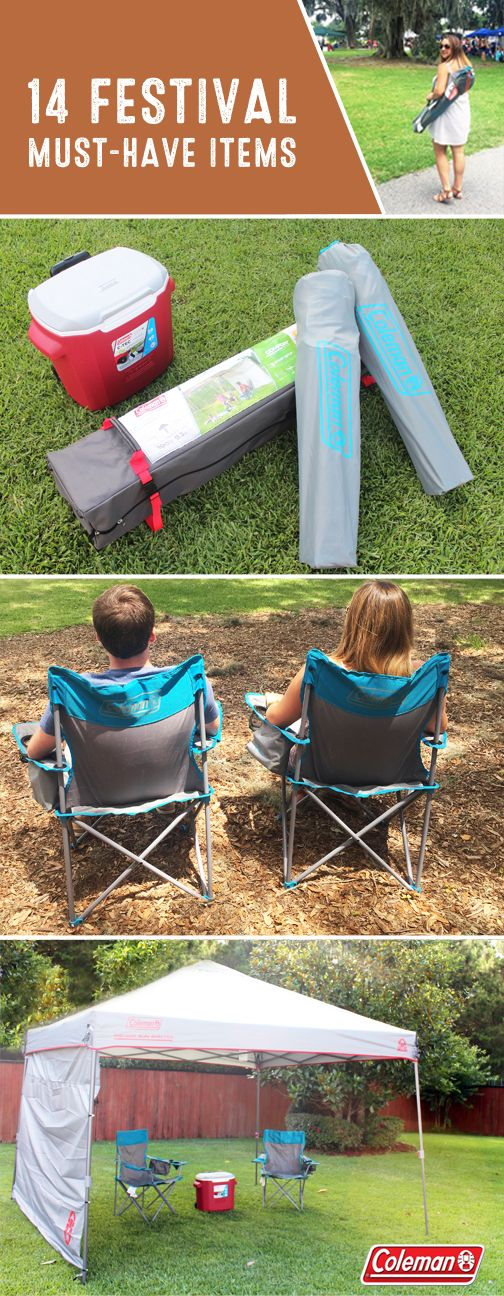 Enjoying outdoor concerts just got a lot more comfortable thanks to this collection of 14 Festival Must-Haves. Thanks to the Coleman Wheeled Cooler, Coleman Cooler Quad Chairs, and Coleman Instant Canopy with Sunwall, you can make memories with your friends and your favorite live music while staying cool and dry. Don't forget to pick up these outdoor essentials from Target before the first band plays!