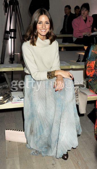 Stunning Fate transeasonal print pleat maxi skirt as seen on Olivia Palermo