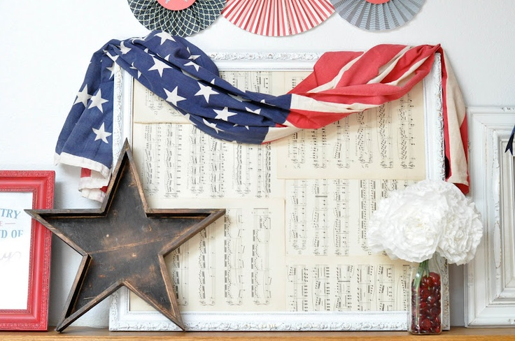 4th of july mantel display decor ideas 4th of july for Mantel display ideas
