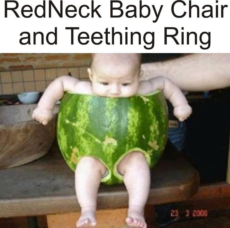 redneck baby chair and teething ring...makes me laugh!Ideas, Redneck Baby, Watermelon Baby, Diapers, Baby Chairs, Funny Stuff, Rings, Red Neck, Kids