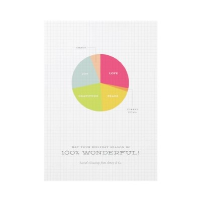 Holiday Pie Chart Business Christmas Card