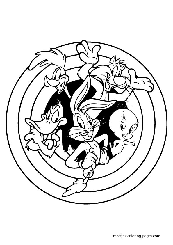 Looney Tunes Coloring Pages Looney