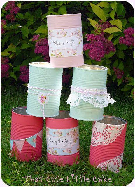 boites de conserve peintes