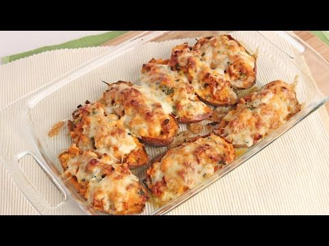 Chorizo Stuffed Sweet Potatoes Recipe  Laura in the Kitchen