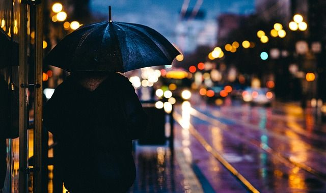 Adult, Blur, Bokeh, City, Evening, Light, Man, Outdoors
