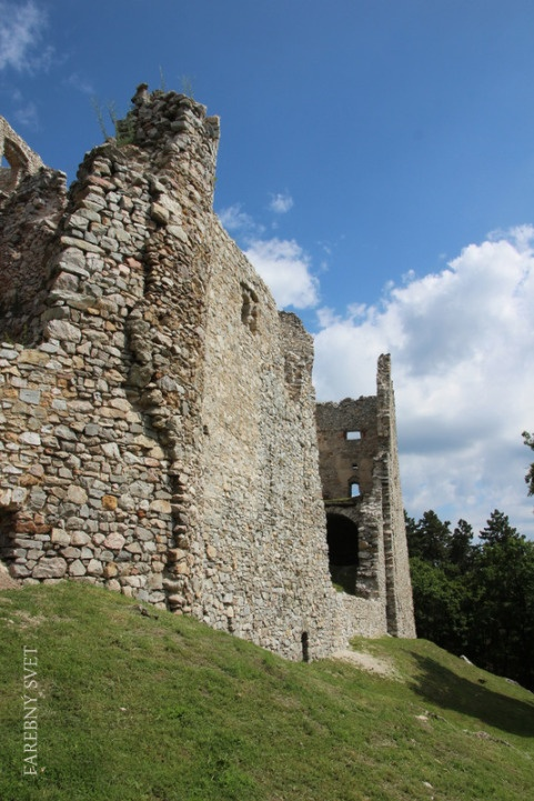 HRUŠOV CASTLE ruins Jedľové Kostoľany