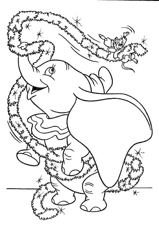 dumbo the elephant coloring pages - Dumbo Elephant Coloring Pages