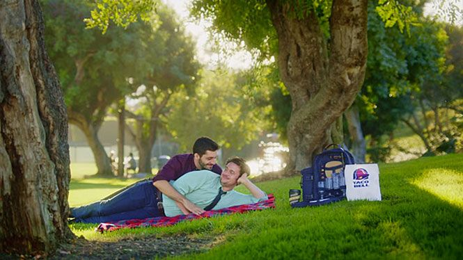 Taco Bell says this gay-themed commercial is an impostor.