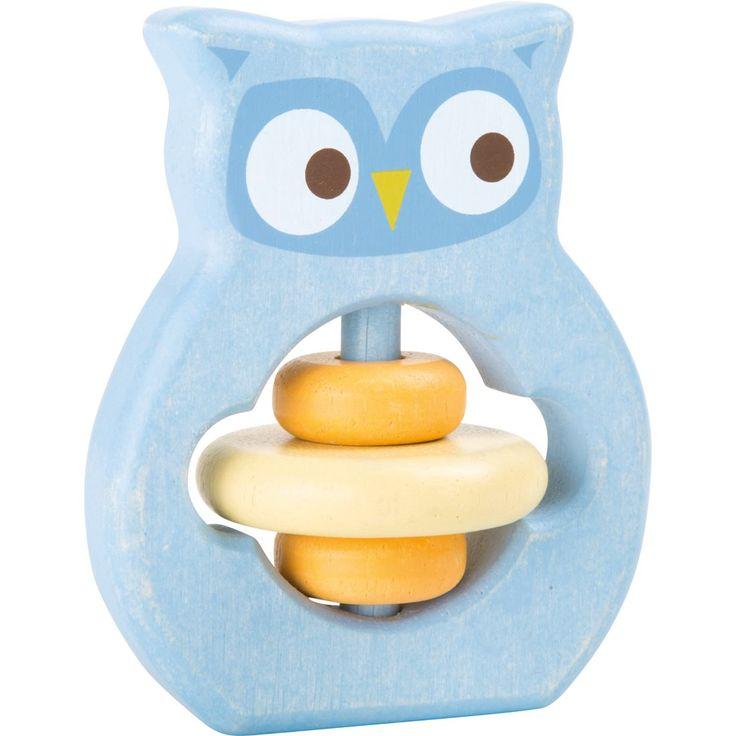 Baby's eerste speelgoed! Deze houten grijpspeelgoed uil van Small Foot is schattig om te zien en nodigt de kleine uit om op ontdekkingstocht te gaan