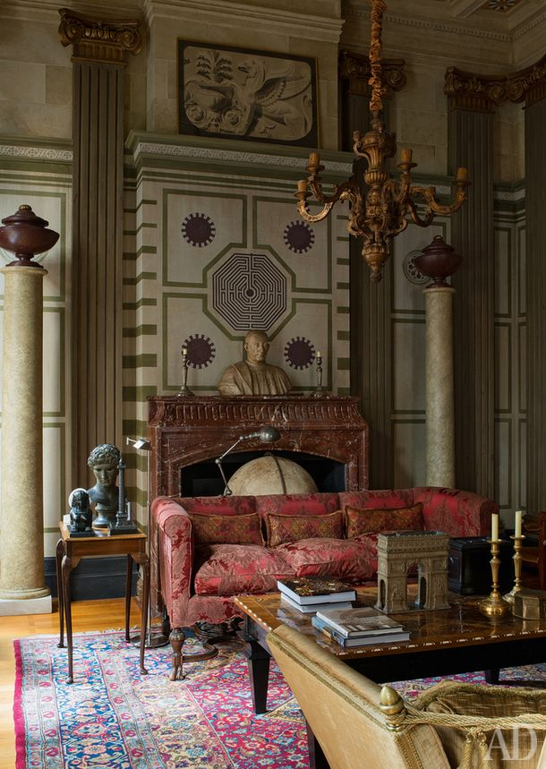 ♜ Shabby Castle Chic ♜ rich and gorgeous home decor - Florentine palazzo by Thierry Tenarsa..