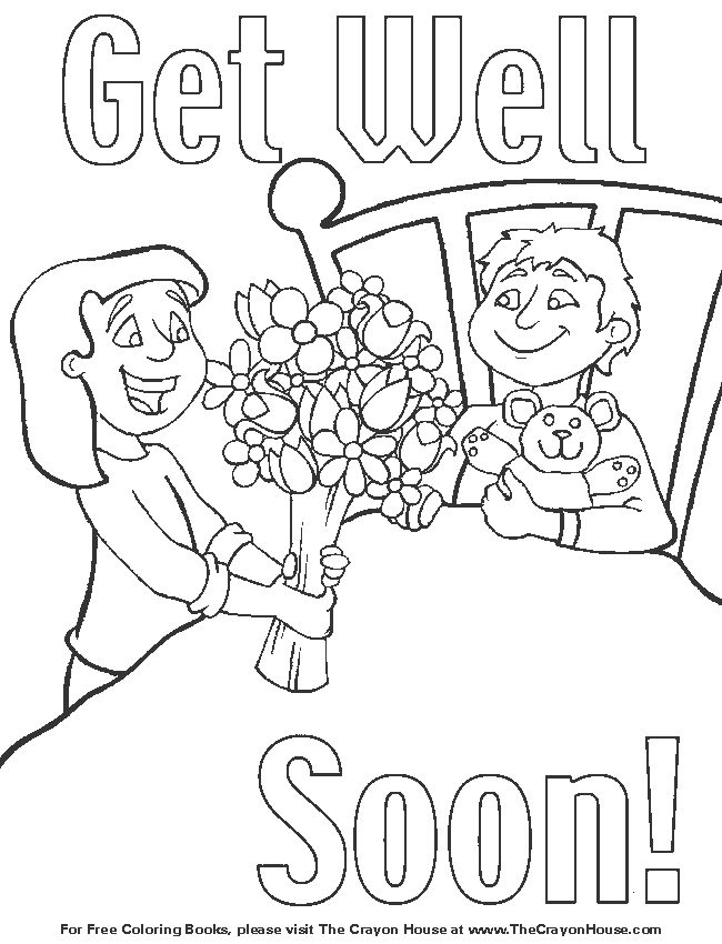 kids get well coloring pages - photo#12